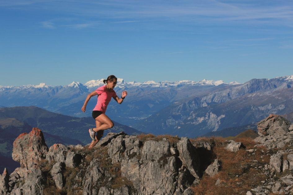Mountain marathon in the Alps