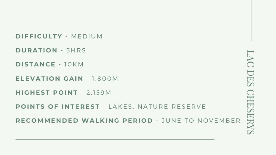 hiking in Chamonix, walking holidays Chamonix, Lac des Cheserys
