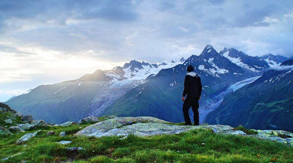 Chamonix Valley. Mountain Views.