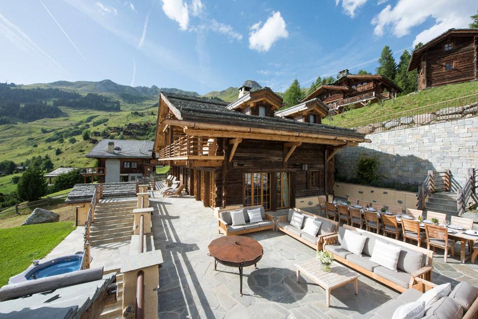 Chalet Chouqui, Summer, Alps, Mountains, Verbier