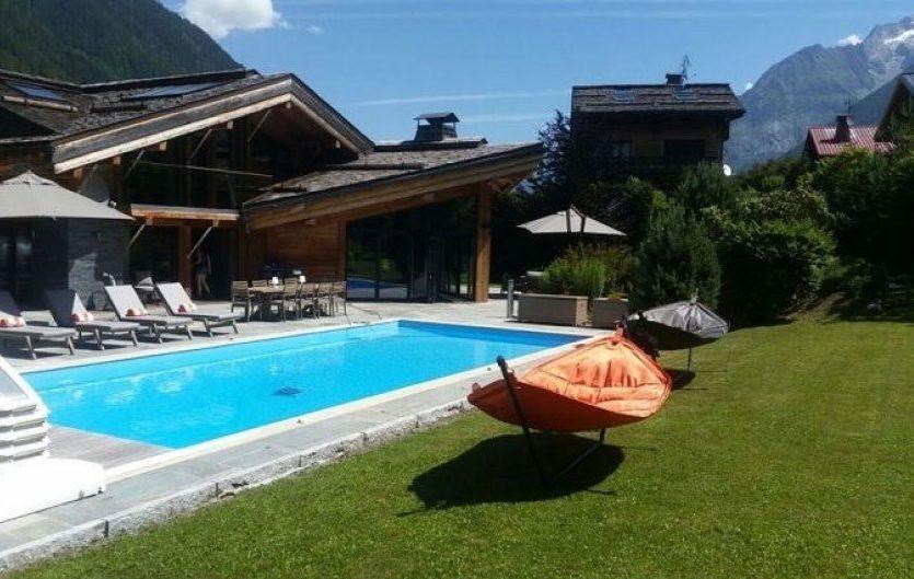 mountains, Chamonix, luxury ski chalet, blue sky, mountains