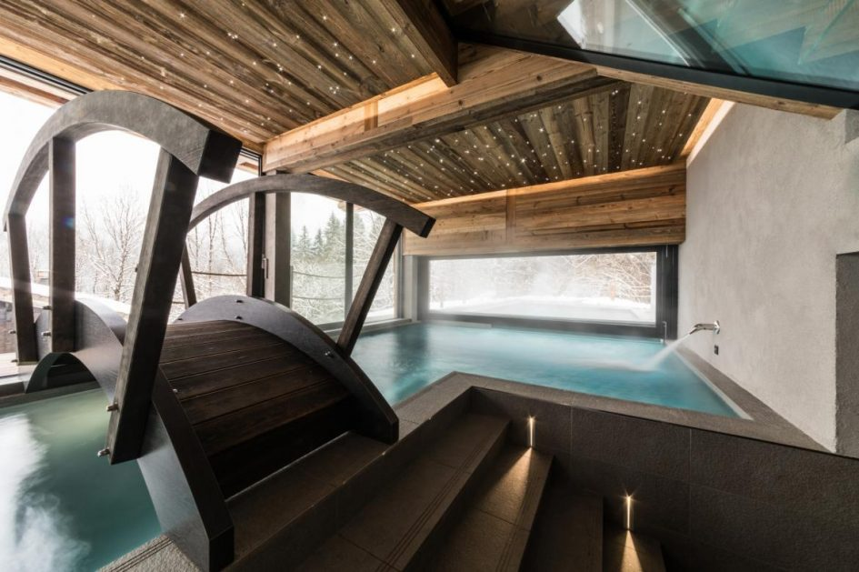 swimming pool, chalet, holiday, summer, alps