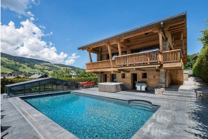 Summer in Megeve, luxury ski chalet, mountains,