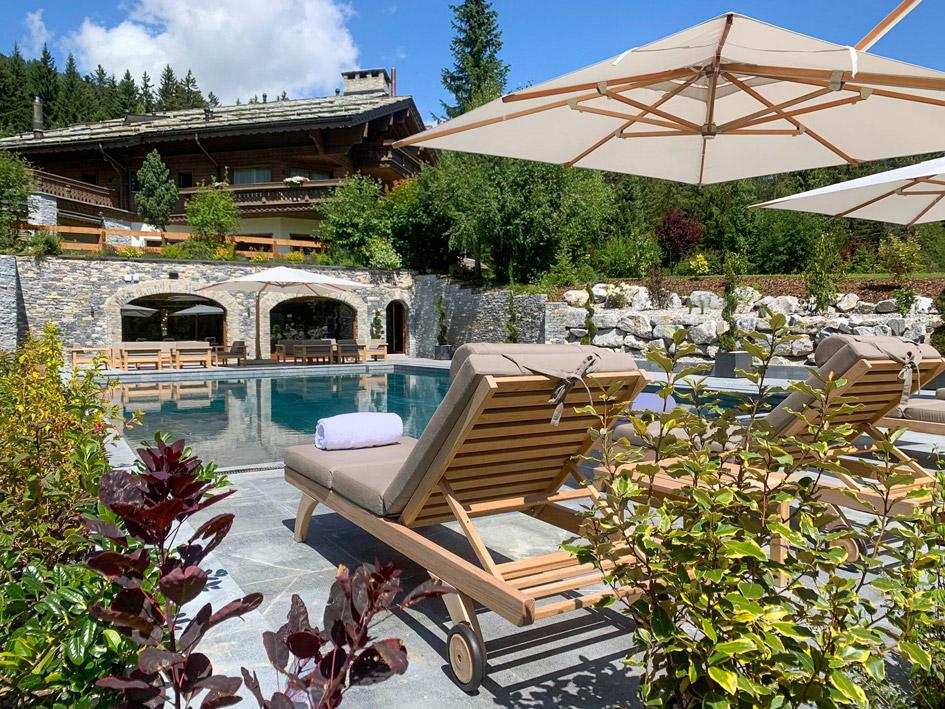 best luxury summer chalets, ultimate luxury, super luxury summer chalets, Crans Montana