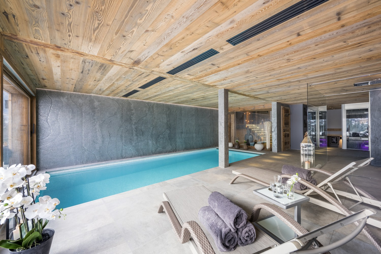 luxury chalet, luxury summer chalet, swimming pool, Morzine, luxury summer holiday