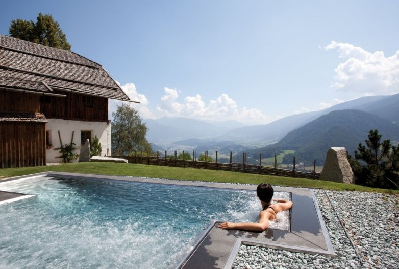 brunico, luxury summer chalet, chalets in the alps with hot tub