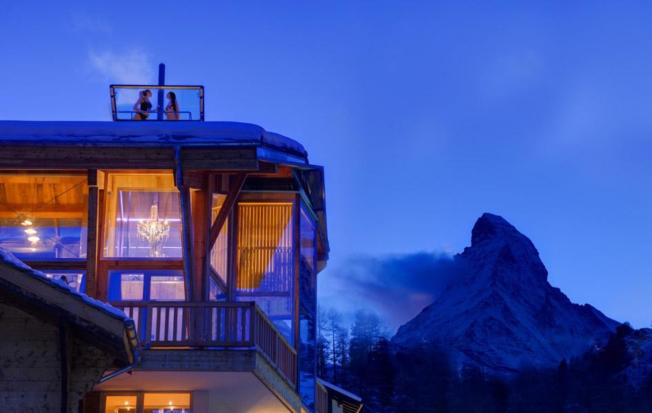 zermatt, summer chalet Zermatt, chalets in the alps with hot tubs, chalets with hot tubs