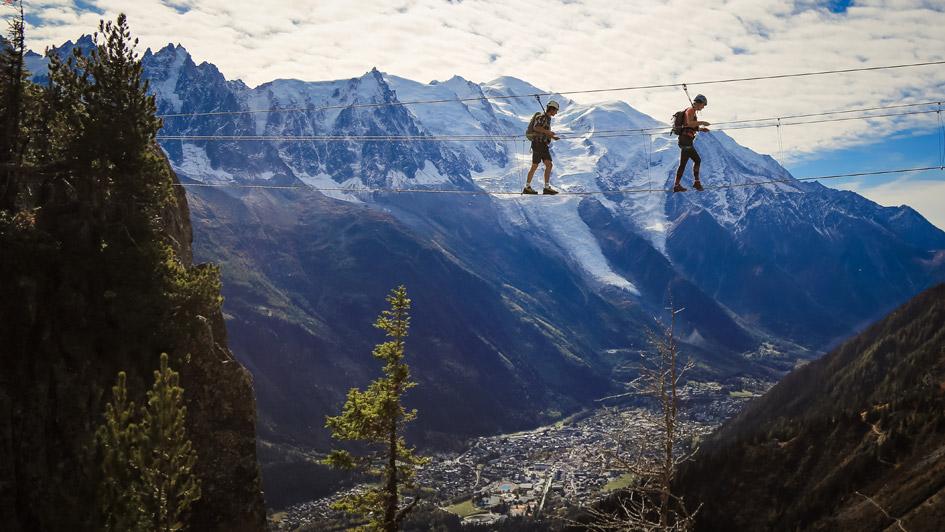 via ferrata in the alps, summer mountain activities, summer in the alps