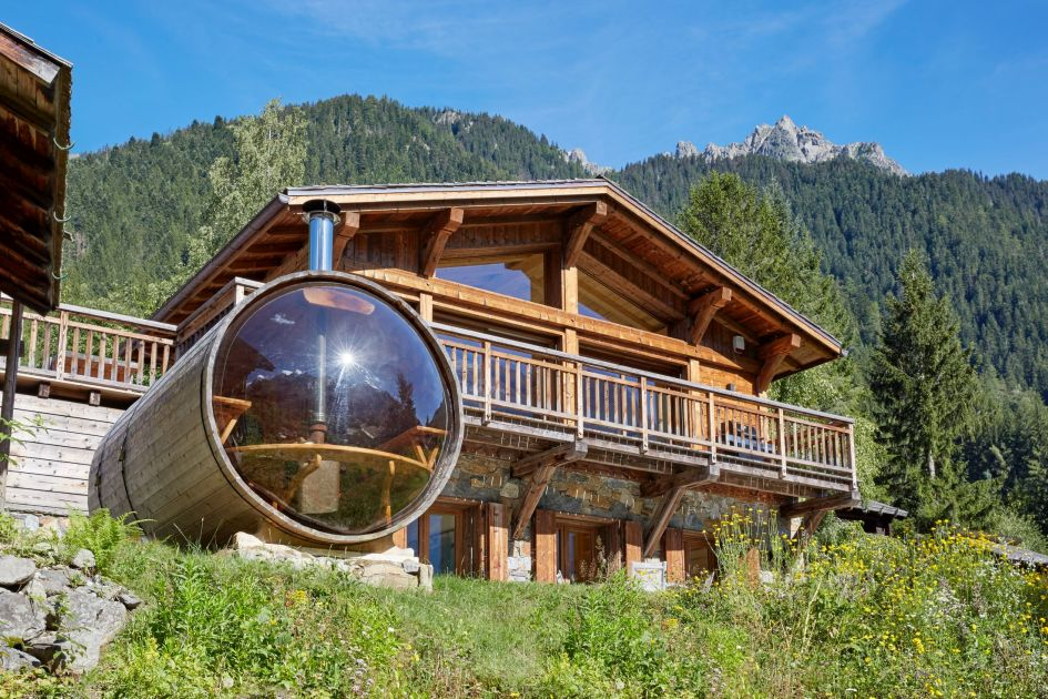 luxury alpine retreat Chamonix, Chamonix summer escape, secluded mountain chalet