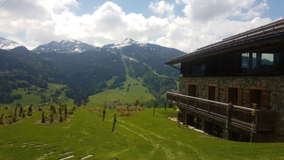 remote summer chalet, luxury mountain escape, alpine retreat Megeve