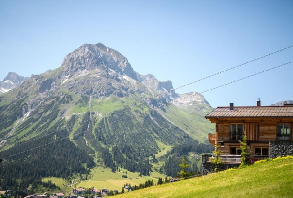 Summer views in Lech, Lech summer chalet with views, summer mountain views in Lech