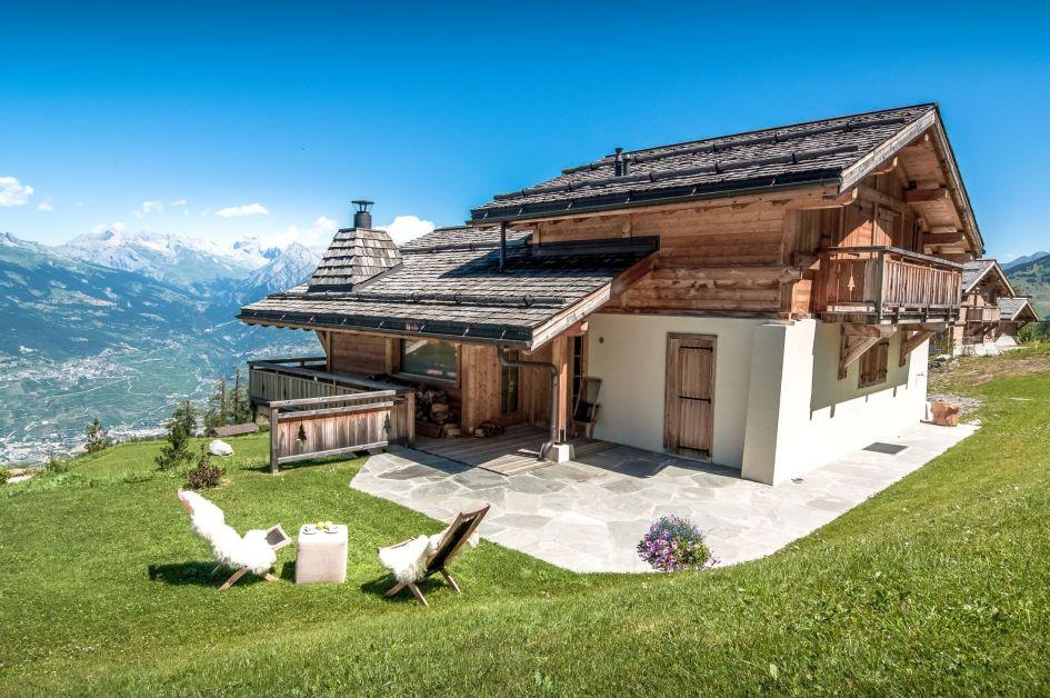 summer views in Nendaz, Swiss Alps summer views, summer chalets with views