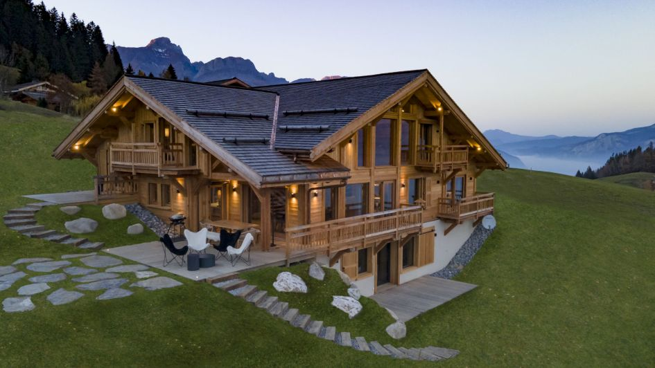 secluded mountain chalet, secluded alps chalet, remote chalet in Megeve, remote chalet in the French Alps