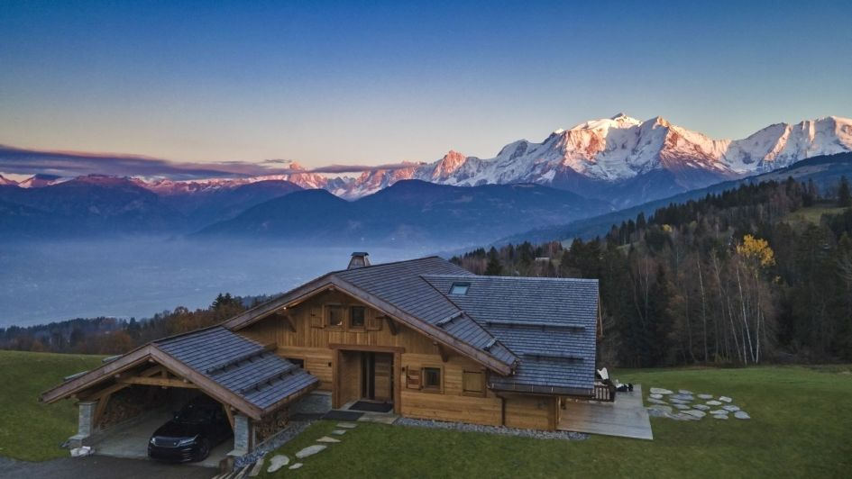 summer chalets with views, Megeve mountain views, summer chalet with a view
