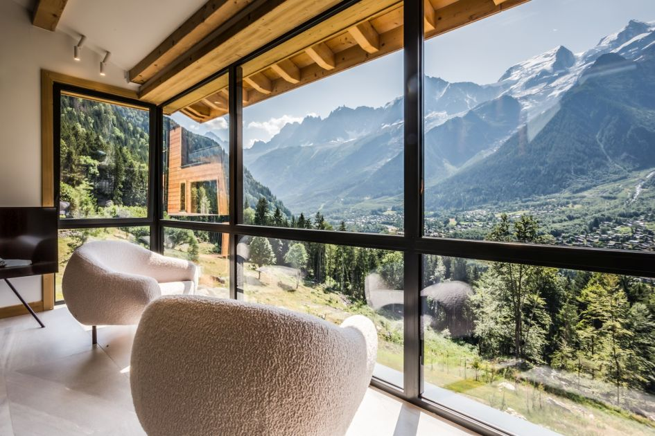 summer chalet views, mountain view holiday, holiday with a view, best views in Chamonix