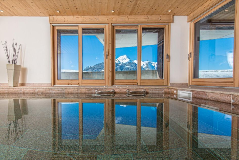 mountain retreat with pool, mountain retreat Chatel, Chatel luxury chalet summer
