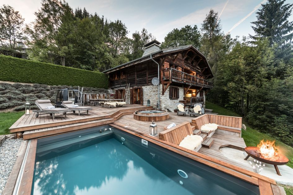 summer alpine retreat, remote chalet in the Portes du Soleil, remote chalet with pool, secluded mountain cabins, escapism holidays