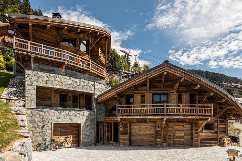 luxury summer chalet, summer in morzine, Alps summer holiday chalet