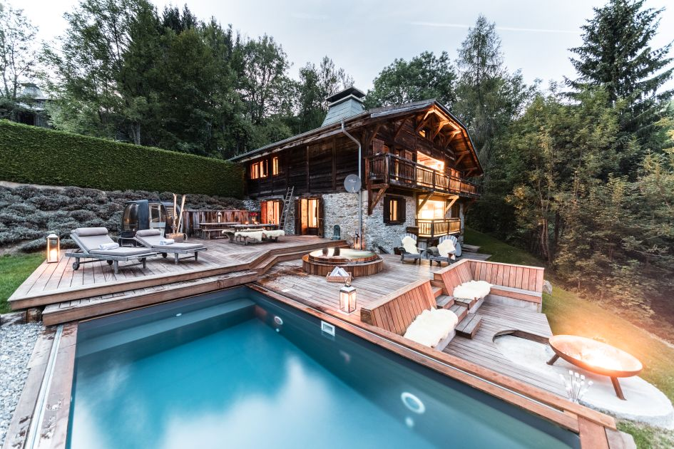 luxury summer chalet Les Gets, affordable luxury chalet, affordable mountain holiday, summer mountain holiday