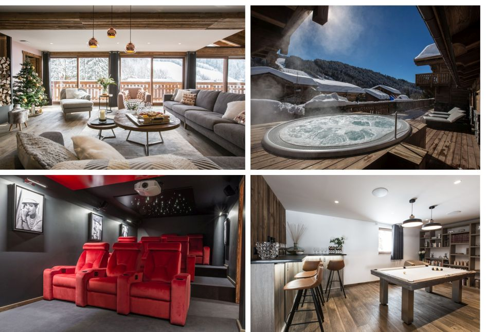 Les Gets, summer, cinema room, mountains, luxury chalet, family summer holiday