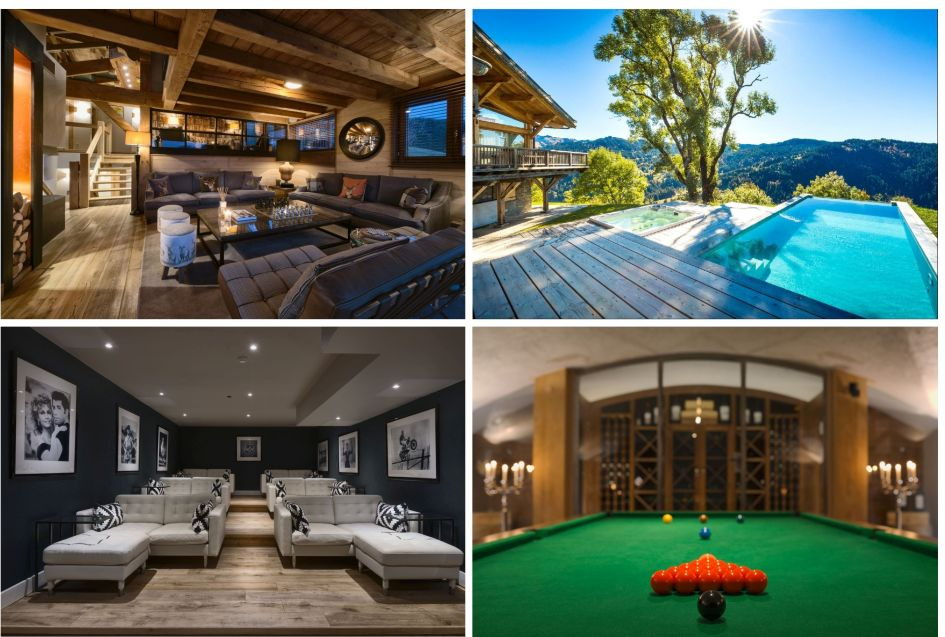 Les Gets, summer, chalet, swimming pool, cinema, views, mountains