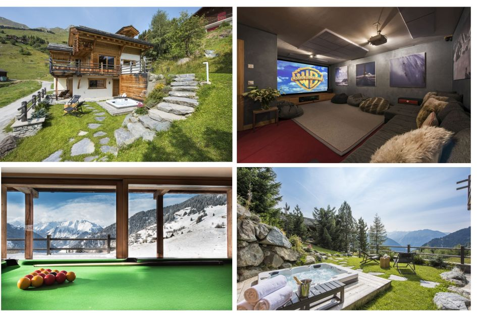 Verbier, summer chalet, hot tub, garden, mountains, family vacation