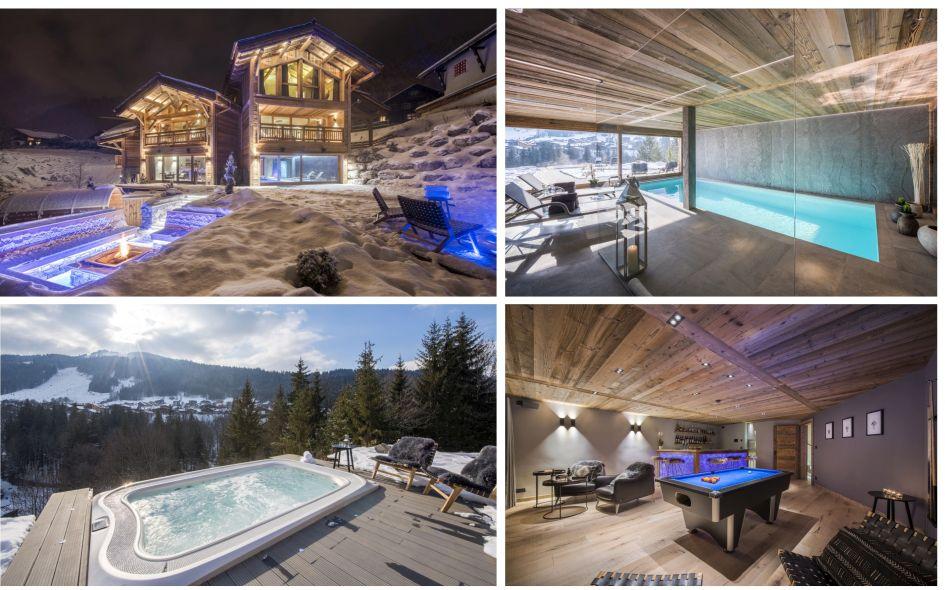 Morzine, luxury chalet, swimming pool, summer, family chalet