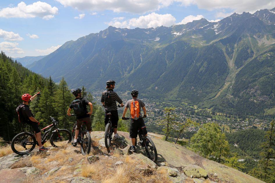 Summer, family, holiday, alps, mountain biking