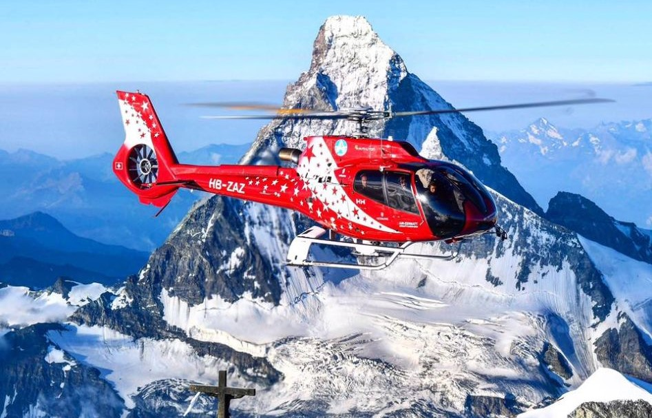 helicopter in the Alps, Helicopter travel, private travel, heli travel, Zermatt helicopter
